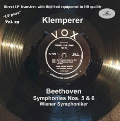 Symphonies Nos. 5 & 6 by Beethoven ;   Wiener Symphoniker ,   Otto Klemperer